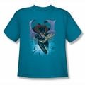 JLA youth teen t-shirt Batgirl #1 turquoise