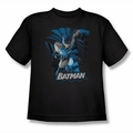 Justice League youth teen t-shirt Batman Blue & Gray black