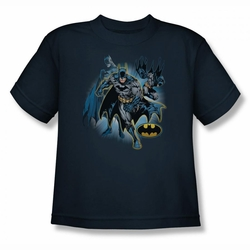 Justice League youth teen t-shirt Batman Collage navy