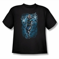 Justice League youth teen t-shirt Black Lightning Bolts black