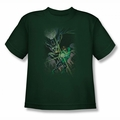Justice League youth teen t-shirt Brave & Bold #1 hunter green