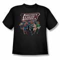 Justice League youth teen t-shirt Charging Justice black