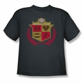 Justice League youth teen t-shirt Defenders charcoal