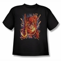JLA youth teen t-shirt Flash #1 black