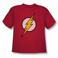 Justice League youth teen t-shirt Flash Logo red