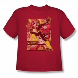 Justice League youth teen t-shirt Flash red