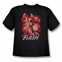 Justice League youth teen t-shirt Flash Red & Gray black