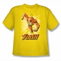 Justice League youth teen t-shirt Flash Yellow