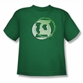 Justice League youth teen t-shirt Green Lantern  Energy Logo kelly green