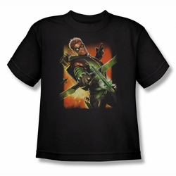 JLA youth teen t-shirt Green Arrow #1 black