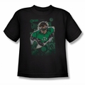 Justice League youth teen t-shirt Green Lantern #1 Distress black