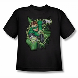 Justice League youth teen t-shirt Green Lantern Green Lantern Energy black