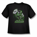 Justice League youth teen t-shirt Green Lantern Green & Gray black