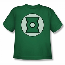 Justice League youth teen t-shirt Green Lantern Logo kelly green