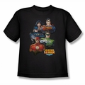 Justice League youth teen t-shirt Group Portrait black