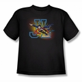 JLA youth teen t-shirt Heroes United black