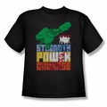 JLA youth teen t-shirt Heroic Qualities black