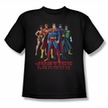 JLA youth teen t-shirt In League black