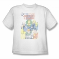 JLA youth teen t-shirt Justice League #1 Cover white