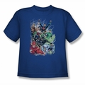 JLA youth teen t-shirt Justice League #1 royal