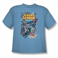 Justice League youth teen t-shirt League A Plenty carolina blue