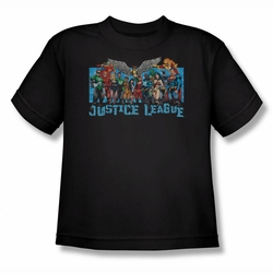 Justice League youth teen t-shirt League Lineup black