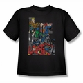 Justice League youth teen t-shirt Lettered League black
