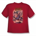 Justice League youth teen t-shirt Lost red