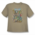 Justice League youth teen t-shirt Most Important Man sand
