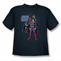 JLA youth teen t-shirt Protectors navy
