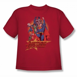 Justice League youth teen t-shirt Raise Your Fist red