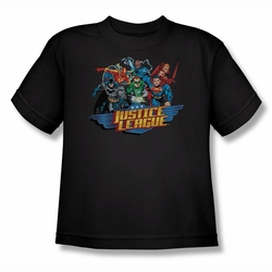 Justice League youth teen t-shirt Ready To Fight black