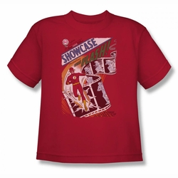 Justice League youth teen t-shirt Showcase #4 Cover red