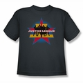 JLA youth teen t-shirt Stand Tall charcoal