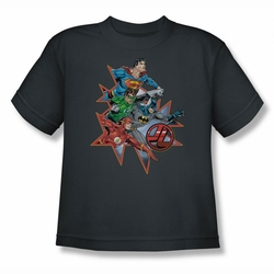Justice League youth teen t-shirt Starburst charcoal