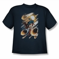JLA youth teen t-shirt Supergirl #1 navy