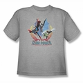 Justice League youth teen t-shirt Team Power heather
