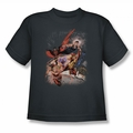 JLA youth teen t-shirt Teen Titans #1 charcoal