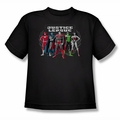 Justice League youth teen t-shirt The Big Five black