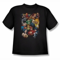 Justice League youth teen t-shirt The League's All Here black