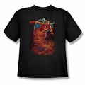 Justice League youth teen t-shirt Tornado Cloud black