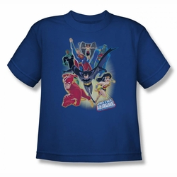 Justice League youth teen t-shirt Unlimited royal