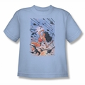 JLA youth teen t-shirt Wonder Woman #1 light blue