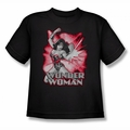 Justice League youth teen t-shirt Wonder Woman Red & Gray black