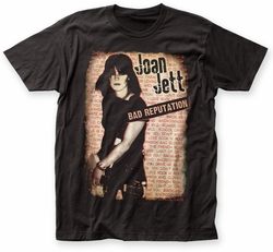 Joan Jett Bad Reputation big print subway tee black mens pre-order