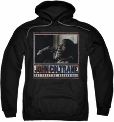 John Coltrane pull-over hoodie Prestige Recordings adult black