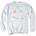 John Lennon adult crewneck sweatshirt Colorful White
