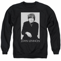 John Lennon adult crewneck sweatshirt Ex Beatle Black