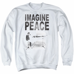 John Lennon adult crewneck sweatshirt Imagine White