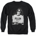John Lennon adult crewneck sweatshirt New York Black